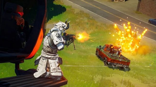 Fortnite PS5 not PS4 build adaptive triggers shooting