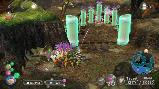 How to open Pikmin 3 bamboo gate winged Pikmin pink Pikmin