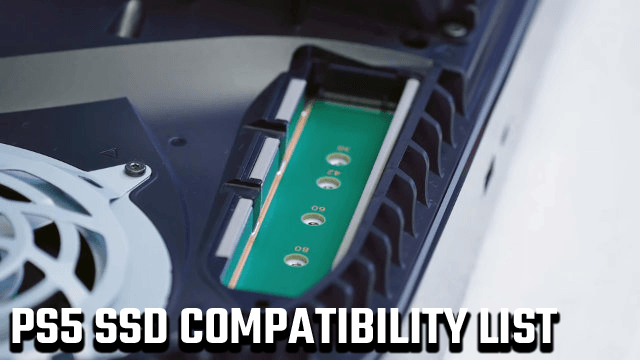 PS5 SSD compatibility list