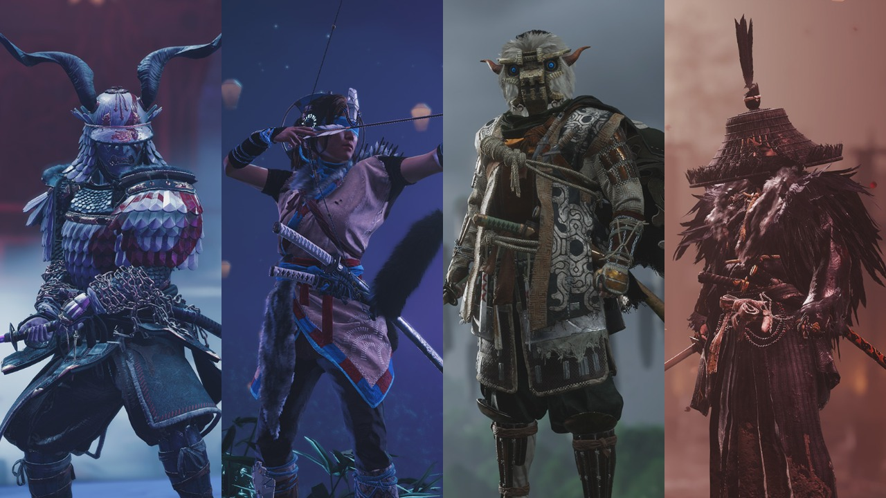 Ghost of Tsushima God of War Horizon Zero Dawn Shadow of the Colossus Bloodborne outfits