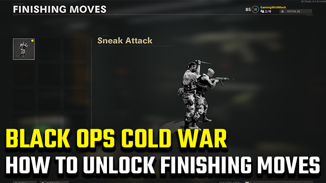 Black Ops Cold War Finishing moves