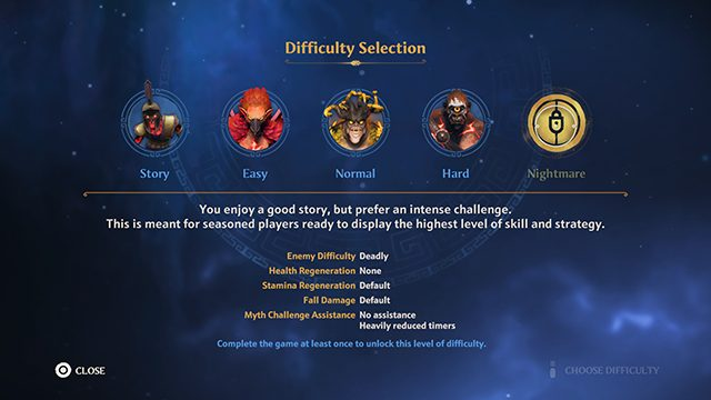 Immortals Fenyx Rising Difficulty Differences | Story, Easy, Normal, Hard, and Nightmare difficulties