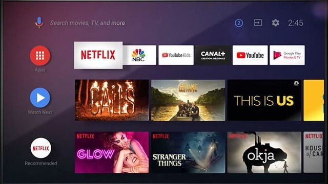 Android TV interface1