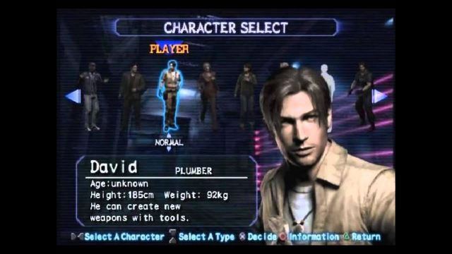 Resident Evil Outbreak Character Selection