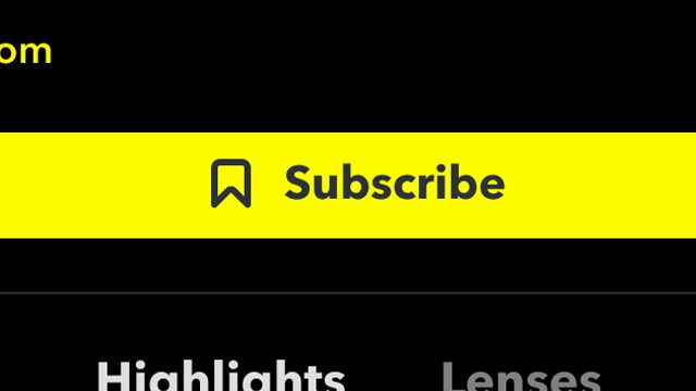 Snapchat Subscribe Button