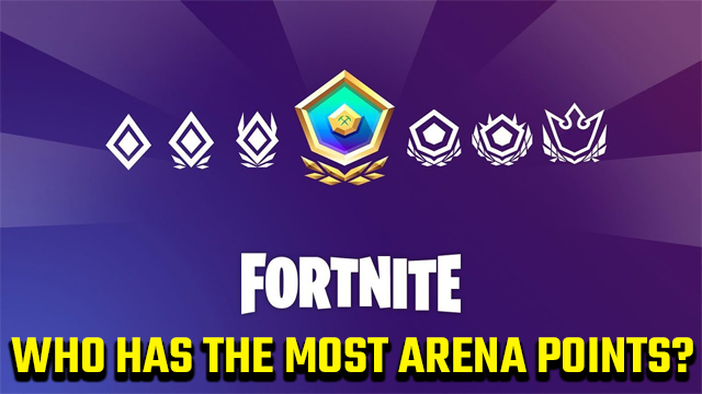 Who has the most Arena points in Fortnite?