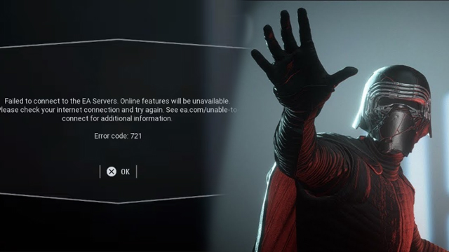 Star Wars Battlefront 2 Error Code 721 fix