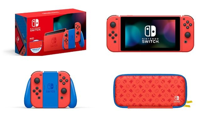 nintendo switch mario edition red blue