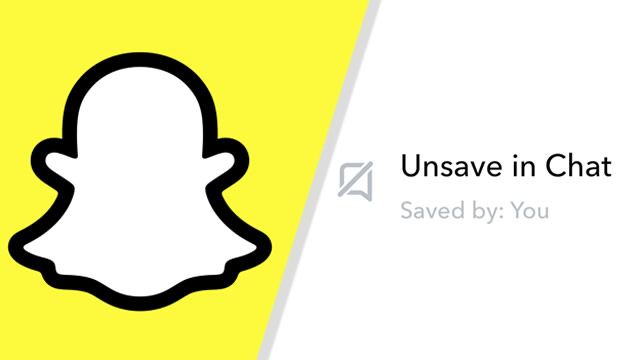 Snapchat - How to unsave messages in chat