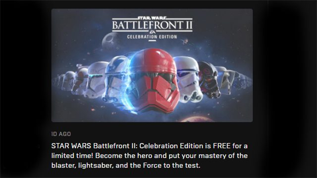 Is Star Wars Battlefront 2 free on Xbox One, PS4, or PC?