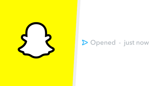 Why does Snapchat say opened just now?