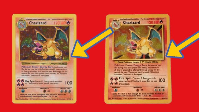 What is a shadowless Pokemon card?