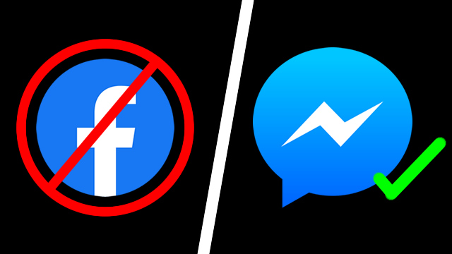 How to delete Facebook but keep Messenger