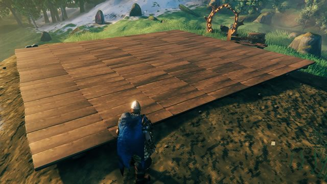 Valheim building supports guide - step one foundation