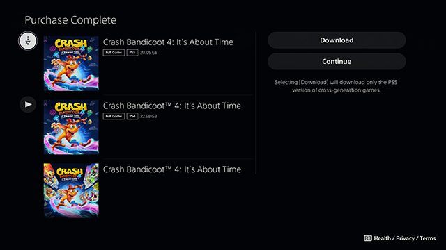 How to upgrade to the Crash 4 PS5 version
