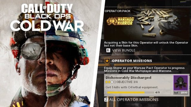 Black Ops Cold War Operator challenges not working