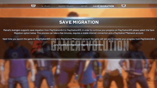 Mavel's Avengers Save Migration Screen