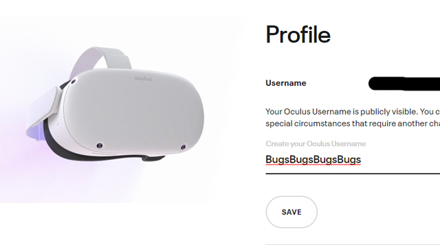 How to change username on Oculus Quest 2