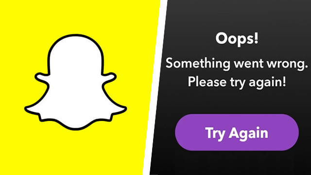 Snapchat: Oops! Something went wrong error fix