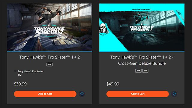 How to get the Tony Hawk's Pro Skater 1+2 PS5 upgrade
