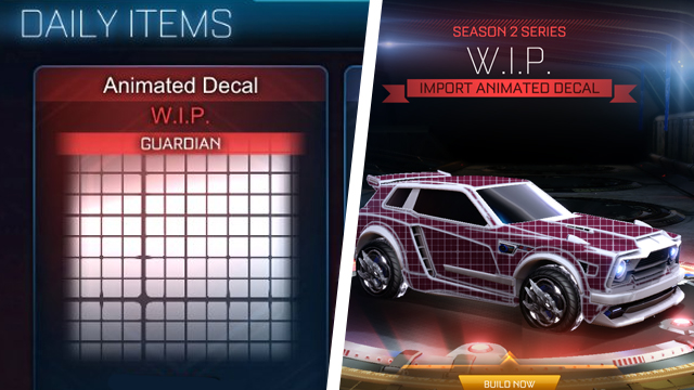 How to get the Rocket League WIP decal