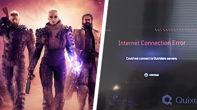 outriders internet connection error