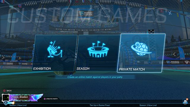 Rocket League private matches not working fix