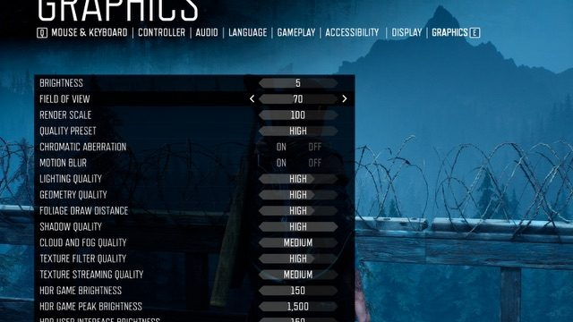 Days Gone PC Settings1