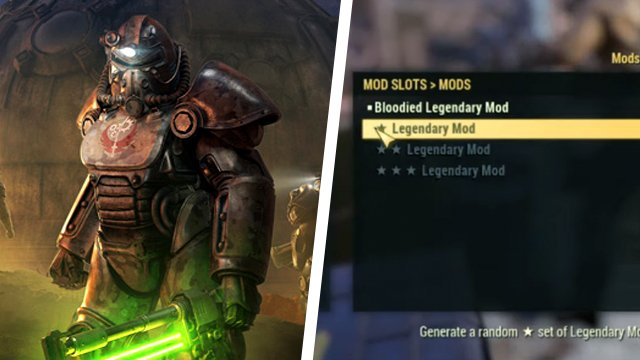 Fallout 76 Legendary crafting