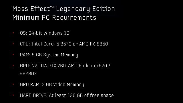 Mass Effect Legendary Separate Install PC Requirements