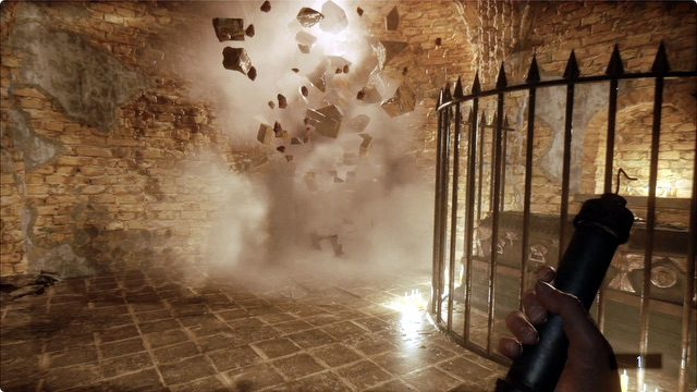 Resident Evil Village Crumbling Wall Explosion
