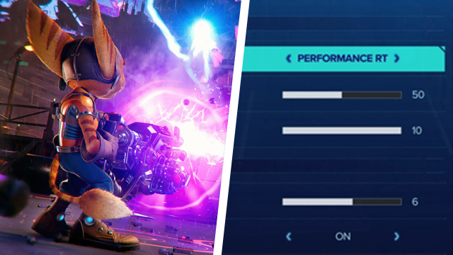 Ratchet and Clank Rift Apart Fidelity, Performance, or Performance RT