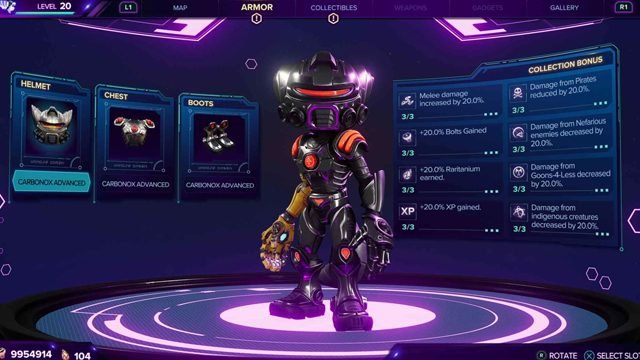 Ratchet and Clank: Rift Apart best armor