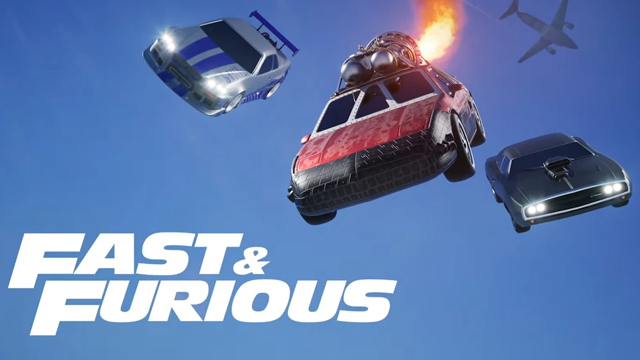 rocket league fast 9 fast and furious crossover