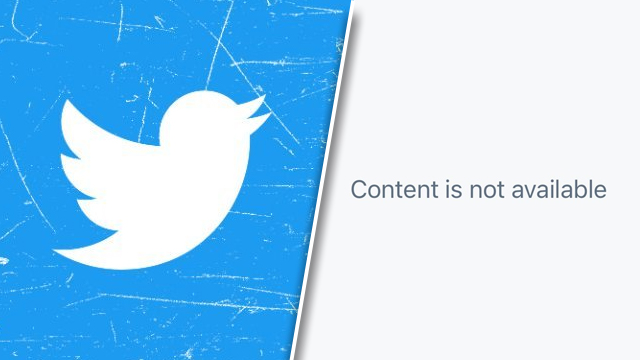 Twitter Content is not available error