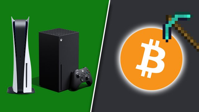 mine crypto on PS5 and Xbox Series X