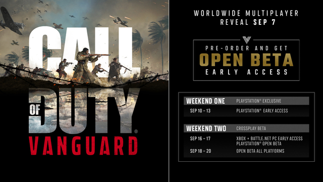 Call of Duty Vanguard Open Beta Times and Dates