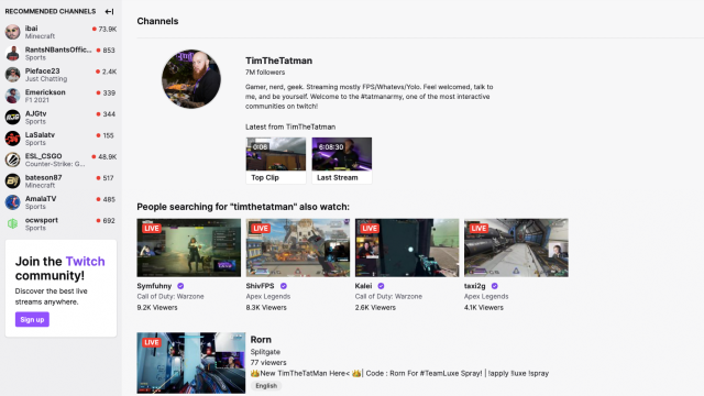 leaving Twitch