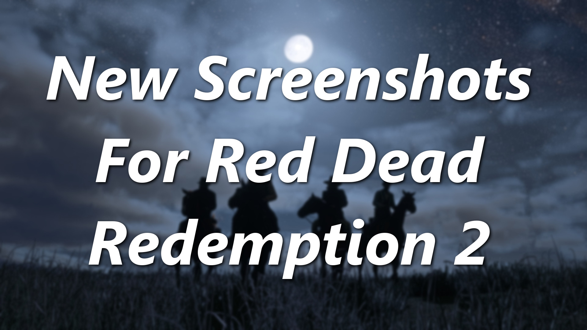 New Screenshots for Red Dead Redemption 2